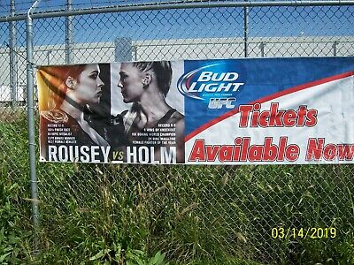 """Ronda Rousey 3'FT.X9'FT6""""in.BANNER Bud Light Holly Holm tickets Fight MMA UFC193"""