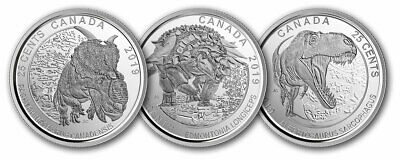 CANADA 2019 25-Cent Coin Set - Dinosaurs of Canada