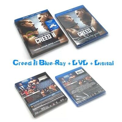 🎬Creed II (2019) (Blu-ray+DVD+Digital) Rotten Tomatoes 🍅 Jordan/Stallone🎬