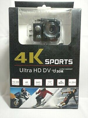 4K Ultra HD DV 16MP Sports Action Camera 30M Water Proof plus Accessory Bundle