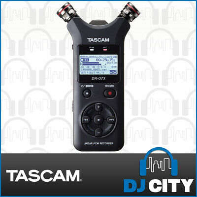 Tascam DR-07X Portable Handheld Field Recorder Pocket Dictator Mobile Memo Mic
