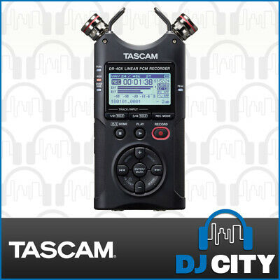 Tascam DR-40X Portable Field Recorder Handheld Linear PCM w/ Dual XLR Inputs
