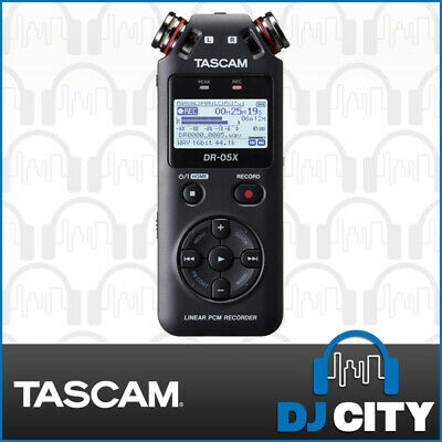 Tascam DR-05X Portable Handheld Field Recorder Pocket Dictator Mobile Memo Mic