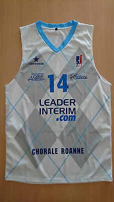 Camiseta Maillot jersey basketball Etienne Brower Chorale Roanne lnb France