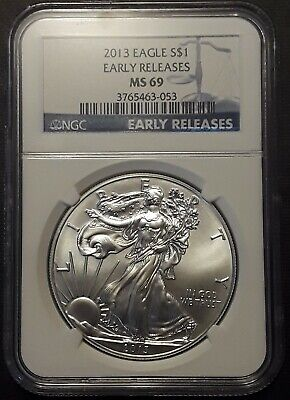 2013 SILVER AMERICAN EAGLE MS69 EARLY RELEASE   12108b