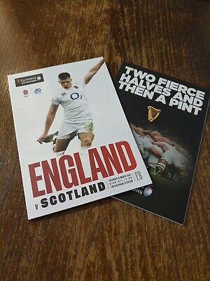 ENGLAND vs SCOTLAND GUINESS SIX NATIONS 2019 Rugby Union Programme