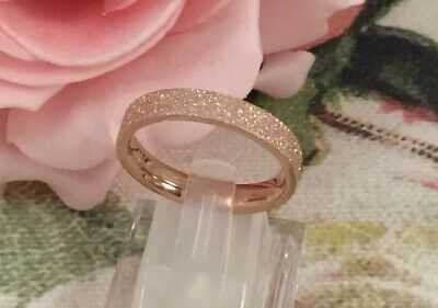 Vintage Jewellery Rose Gold Star Dust Band Ring Antique Stardust Dress Jewelry