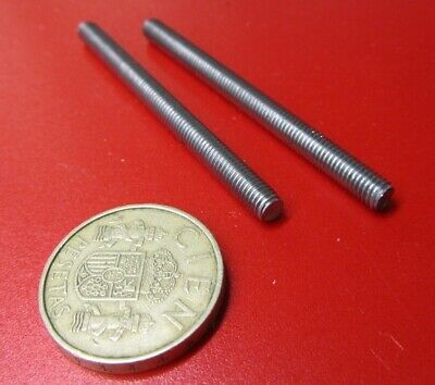 "Threaded Steel Studs, Uncoated RH, 10-32 x 2.50"" Length, 50 Pcs"
