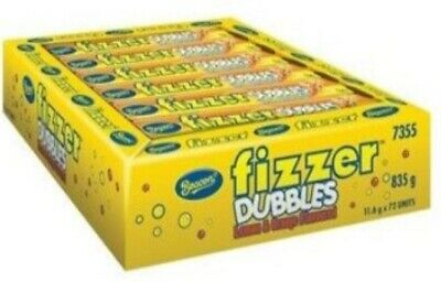 72 x BEACON FIZZER DUBBLES LEMON ORANGE CHEWY FIZZY WRAPPED LOLLIES CANDY