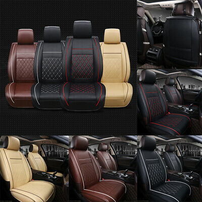 1Pc Universal PU Leather Deluxe Car Seat Cover Protector Breathable Cushion Pad