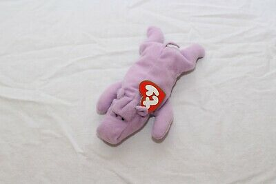 cb38140c3a3 1998 Ty Teenie Beanie Babies McDonald s Happy Meal - Happy  6 Hippo NEW