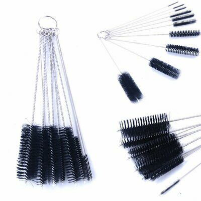 10pcs Stainless steel Nylon Straw Cleaners cleaning Brush for Drinking pipe