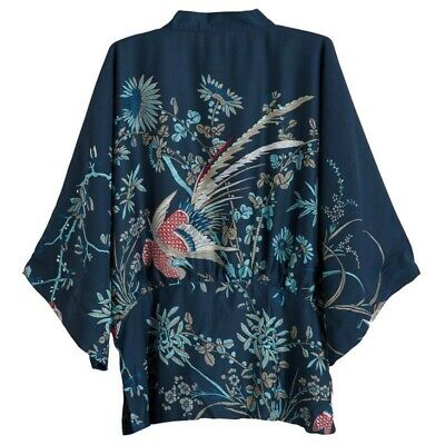 Womens Casual Kimono Blouse Coat Boho Floral Cardigan Jacket Beach Cover Up Tops