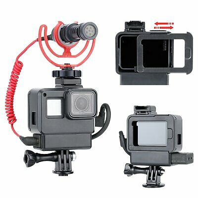 V2 Vlog Housing Shell Cage Frame Accessories for GoPro Hero 7 6 5 Black Camera