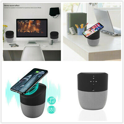 New 2in1 Bluetooth Speaker + Qi Wireless Charger Charging Hands-Free Talking