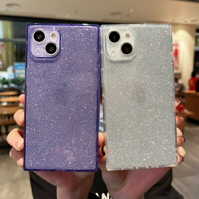 For iPhone XS MAX XR X 8 7 6s Plus Slim Shockproof Square Transparent Phone Case