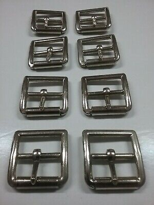 "8 x Stirrup leather roller buckles 1-1/8"" (28mm)"