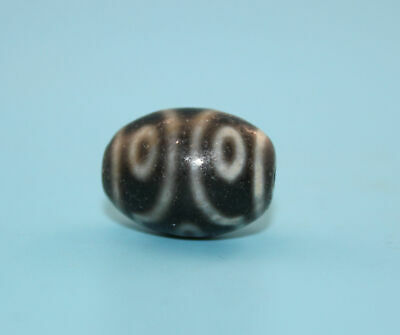 21*16 mm Antique Dzi Agate old 6 eyes Bead from Tibet **Free shipping**