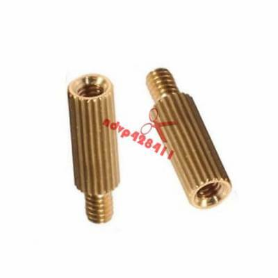 M2 Male-Female Hex Brass Spacer & Screw Nut Nickel-plated