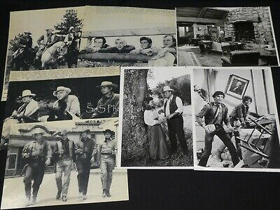 "7 x TV Press Kit Photos ~ 8x10 ""Bonanza"" Lorne Greene Michael Landon & More"