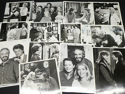 "13 x TV Press Kit Photos ~ 8x10 ""Family Ties"" Michael J Fox Justine Bateman +++"