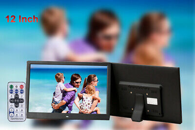 2019 LED 12'' Digital Photo Frame Family Picture Video Player Alarm Home Decor