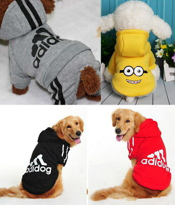 Puppy Small Large Pet Dog Clothes Sweater Hoody Jacket Shirt Vest Jumpsuit Dress