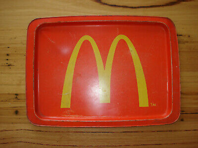 VINTAGE McDonald's METAL SERVING TRAY with GOLDEN ARCHES 1970's RARE