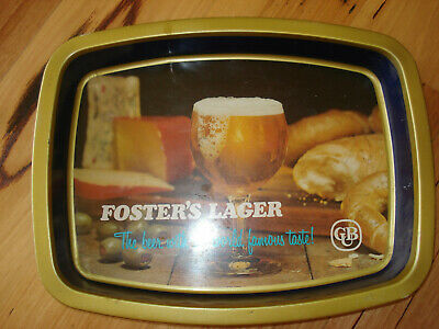 Vintage CUB Foster's Larger Metal Drink's Tray