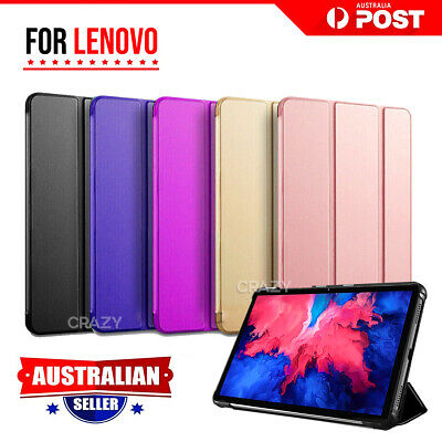 For Lenovo Tab E10 10.1 inch Case Folio Smart Stand Magnetic Flip Leather Cover