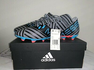 d162867f6ca0 adidas Nemeziz Messi 17.1 FG Soccer Cleats - Grey White Black Size 10 New