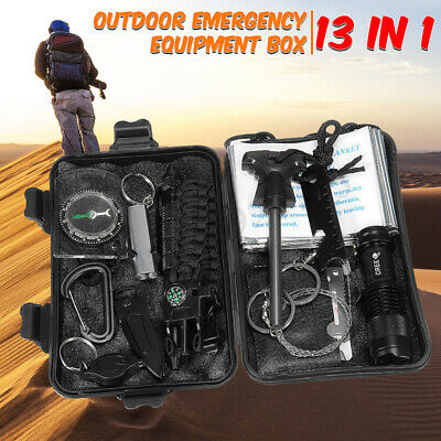 New 13in1 Professional Survival Kit Outdoor Travel Hike Field Camp Emergency Kit