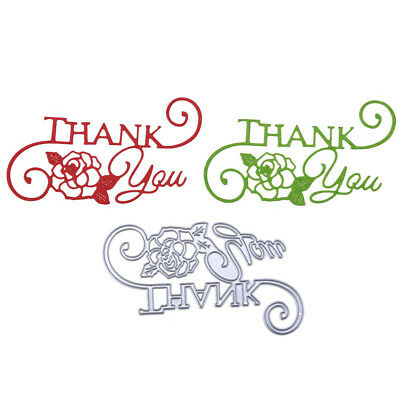 Craft Thank You Letter Card Decor Metal cutting Dies Embossing Stencils HT