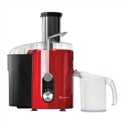 Pro Powerful 800W Centrifugal Whole Fruit & Veg Citrus Juicer 1 Yr Warranty RED