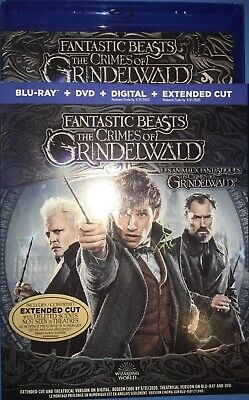 Fantastic Beasts The Crimes Of Grindelwald Blu Ray & DVD w SlipCover Canada LOOK