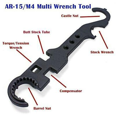 US AR15/M4 Combat-Wrench Multi Barrel Nut Spanner Steel Outdoor Tactical Tool