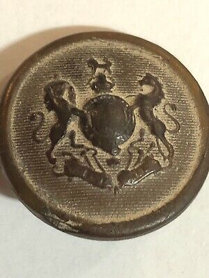 Antique Coat Of Arms Button. Grove And Sons.