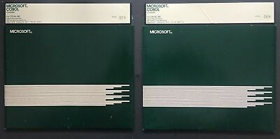 Microsoft Cobol Compiler for CPM/80 - Serial No 468 on 8in Disks -  RARE