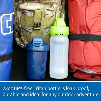 OUTAD Portable Water Bottle 1500 Liter Filter Purification for Outdoor Tourism
