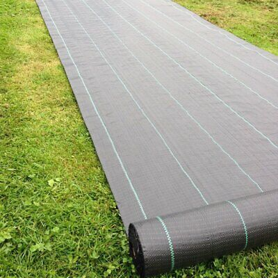 10M/25M x 1M Heavy Duty Weed Control Woven Fabric Ground Cover Membrane Mat SL