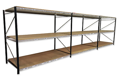Pallet racking, shelving, longspan shelving, 3 joined bays ****FREE DELIVERY****