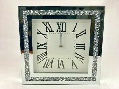 Elegant Luxury Wall Clock Diamante Glass Large Clock Home Living Room Decoration
