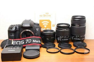 Canon Eos 7D Mark Ii Single Focus Standard Telephoto Triple Lens