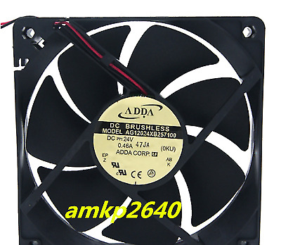 for ADDA AG12024XB257100 Cooling fan DC24V 0.46A 120*120*25mm 2pin#am3