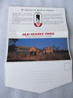 Vintage Colour View Folder, OLD SYDNEY TOWN New South Wales Heritage Park