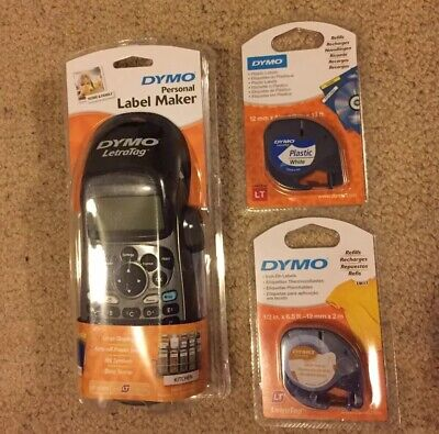 DYMO LetraTag Personal Label Maker - Black - With 2 X Tape - NEW