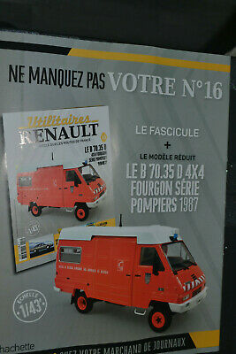 Voiture Collection  Renault N°16 Le B70 Serie Pompiers 1987