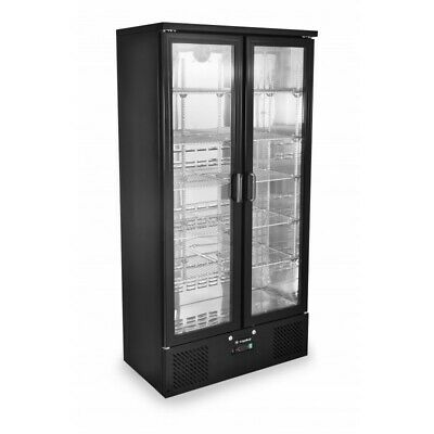 Zero Primo 500 Upright Double Door Bottle Cooler NEW