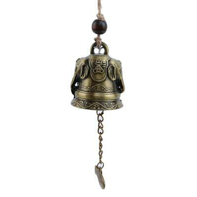 Vintage Blessing Feng Shui Wind Chime Good Luck Buddha Statue Bell Ornament C