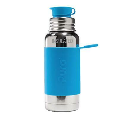 Pura Sport 16 OZ Stainless Steel Water Bottle Silicone Big Mouth Sport Insulated